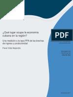 Informe de Banco Interamericano de Desarrollo sobre Cuba