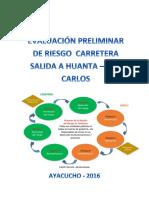 Evaluacion Preliminar de Riesgo Carretera Salidaa Huanta - San Carlos 2016