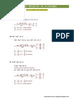 Ejercicios Resueltos Ecuaciones (Ficha de Clase)