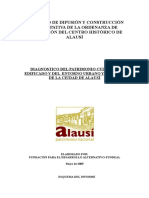 Informe Del Diagnóstico Del Patrimonio Cultural Edificado Alausi
