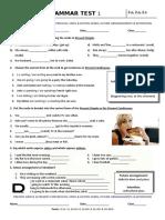 60794 Grammar Test 1