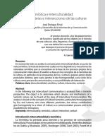 Semiótica e Interculturalidad - Límites Fronteras e Intersecciones de Las Culturas