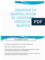Ppt on Dimensions of Marital Roles in Consumer Decision Making