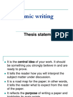 2. Thesis Statement