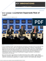 Article - Will Global Voluntarism Supersede Rule of Law - Harris Gleckman
