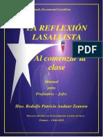Andaur Zamora, Rodolfo - La Reflexión Lasallista Al Comenzar La Clase