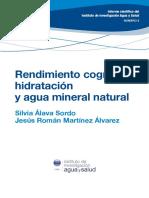 V Informe Científico IIAS Rendimiento Cognitivo Hidratación y Agua Mineral Natural