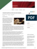 Inequidade de gêneros na ciência varia entre disciplinas - SciELO em Perspectiva (2015).pdf