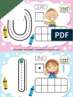 Fichas de Números - Plantillas de Conteo Para Plastilina by Materiales Educativos Para Maestras