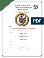 Variacion Del Presupuestro Fiscal en El Ecuador