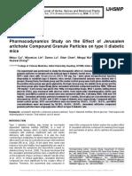 Pharmacodynamics Study on the Effect of Jerusalem artichoke Compound Granule Particles on type II diabetic mice