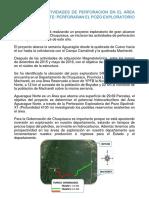 Se Iniciaran Actividades de Perforacion en El Area Aguarague Norte