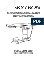 Skytron Elite 6500 Surgical Table - Maintenance Manual