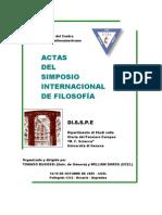 Actas Del Primer Simposio Internacional de Filosofia Ucel