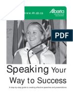 Speaking Your Way to Success