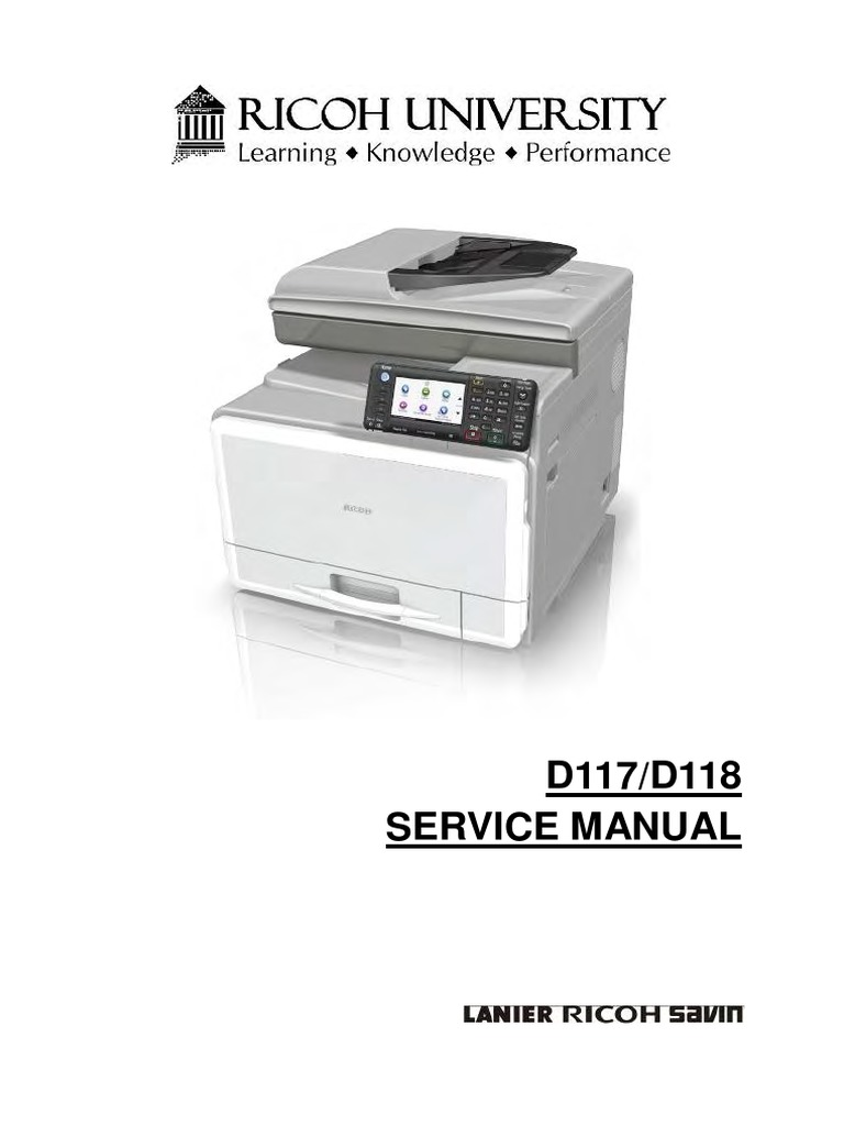 Service Manual MPC305 | Electrical Connector | Switch