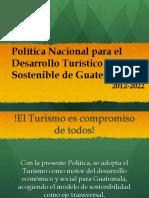 Politica Nacional Para El Desarrollo Del Turismo