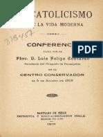 El Catolicismo Ante La Vida Moderna, Luis Felipe Contardo.