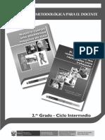 Guía metodológica para el docente. Cuaderno de trabajo N° 1 y N° 2. Segundo grado, Ciclo Intermedio