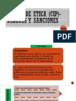 Deberes y Sanciones -Cip