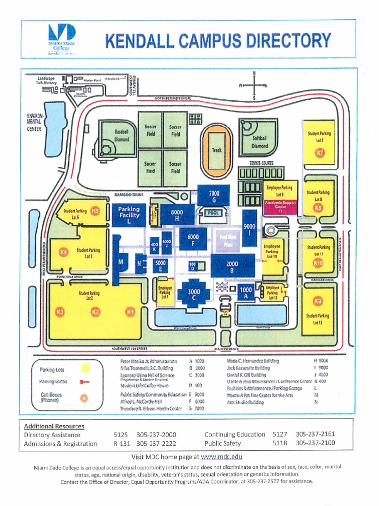 Miami Dade Kendall Campus Map Miami Dade College   Kendall Campus Map