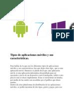 Tipos de Aplicaciones Móviles y Sus Características
