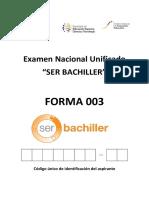 Examen Nacional Unificado 003