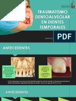 Traumatismo Dentoalveolar en Dientes Temporales
