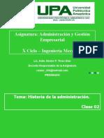 Clase 02 Historia de La Administración