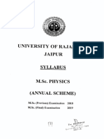 M.sc. Physics(Annual Scheme)