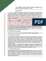 Identificación de Posibles Areas Para Relleno Sanitario de Residuos Solidos en Sandia- Puno