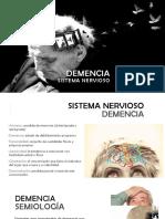 Demencia  PRESENTACIÓN