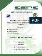 Informe Circuito Amplificador Mosfet