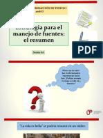 N01I 6A- Estrategia de Manejo de Fuentes- El Resumen 2018-II