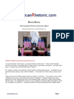 Barack Obama - 13th Amendment 150-Year Anniversary
