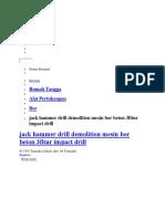 BOR Besi-kayu-beton & Jack Drill-jack Hammer (3 Fungsi)