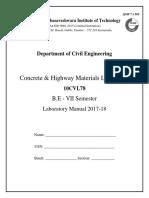 7th Sem Concrete Lab Manual