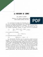La Notacion de Leibniz