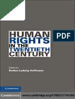Stefan-Ludwig Hoffmann-Human Rights in the Twentieth Century (Human Rights in History) -Cambridge University Press (2010)