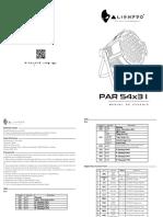 Manual Par 54x3 I