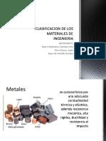 Clasificacion de Los Materiales de Ingenieria