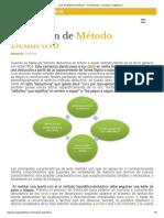 ¿Qué Es Método Deductivo_ - Su Definición, Concepto y Significado