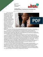 Deuda Pendiente, Desigualdad y Trastornos