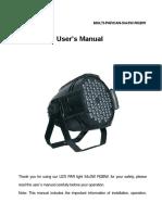 Manual Multi Parcan 54x3w Rgbw