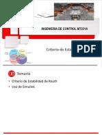 MT221 Unidad 2b Criterio de Estabilidad en Sistemas Físicos 2018-1