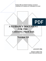 A Guidance Document for the Costing Process