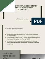 Costos psicosociales de la llegada incompleta de México a la globalidad
