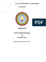 SYLLABUS OF B.TECH BIOTECH AKTU