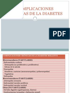 complicaciones crónicas vasculares de la diabetes