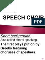 Final Speech Choir